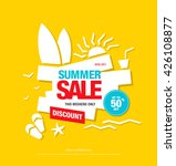 summer sale template banner.... | Shutterstock .eps vector #426108877