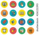 icon set shopping vector | Shutterstock .eps vector #426121393