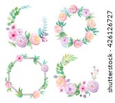 floral frame with hand painted... | Shutterstock . vector #426126727