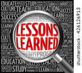 lessons learned word cloud with ... | Shutterstock . vector #426126913