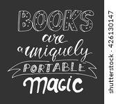 books are uniquely portable... | Shutterstock .eps vector #426130147