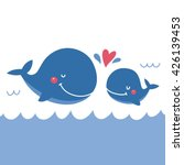 cute whale vector print | Shutterstock .eps vector #426139453