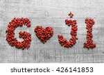 Goji Berries Shaped As A Heart...