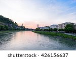 Sunset View From Salzach River...