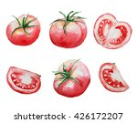 set of watercolor tomatoes... | Shutterstock . vector #426172207