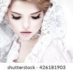a portrait of elegant girl is... | Shutterstock . vector #426181903