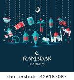 ramadan kareem icons set of...   Shutterstock .eps vector #426187087