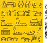 dealership car  icons | Shutterstock .eps vector #426189493