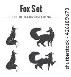 set of fox silhouettes made in... | Shutterstock .eps vector #426189673