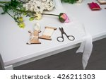 florist workplace. flowers and... | Shutterstock . vector #426211303