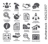 business management icons. | Shutterstock . vector #426212557