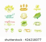 hand drawn farm fresh logo set. ... | Shutterstock .eps vector #426218377