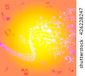 abstract music background with... | Shutterstock .eps vector #426228247