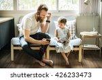 father daughter entertainment... | Shutterstock . vector #426233473