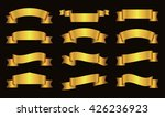 ribbon banner set.golden... | Shutterstock .eps vector #426236923