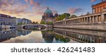 Stock photo berlin panoramic image of berlin cathedral and museum island in berlin during sunrise 426241483