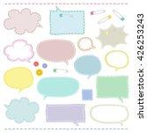 set of handicraft style speech...   Shutterstock .eps vector #426253243