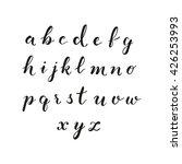 vector latin alphabet on white...   Shutterstock .eps vector #426253993