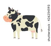 funny cow character. farm... | Shutterstock .eps vector #426254593