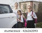 portrait of happy mother and...   Shutterstock . vector #426262093