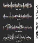 abstract illustrations of urban ... | Shutterstock .eps vector #426262927