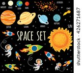 space set. planets of the solar ...   Shutterstock .eps vector #426271687