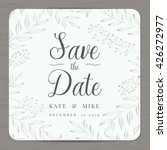 save the date  wedding... | Shutterstock .eps vector #426272977