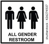 all gender restroom sign. male  ... | Shutterstock .eps vector #426274537