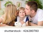 Parents Kiss His Beautiful...