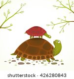 turtle mother and baby childish ... | Shutterstock .eps vector #426280843