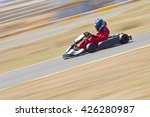 youth go kart racer on track. ... | Shutterstock . vector #426280987