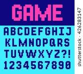 pixel retro font video computer ...   Shutterstock .eps vector #426283147
