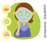 beauty spa facial mask vector... | Shutterstock .eps vector #426284557