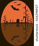 halloween picture of bats with... | Shutterstock .eps vector #426298927