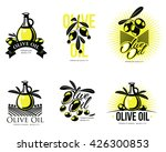 logo set about olive oil ... | Shutterstock .eps vector #426300853