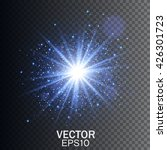 glow light effect. star burst... | Shutterstock .eps vector #426301723