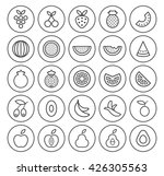 set of isolated high quality... | Shutterstock .eps vector #426305563