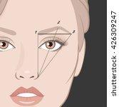 vector illustration of woman... | Shutterstock .eps vector #426309247