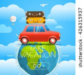 vacation travelling concept.... | Shutterstock .eps vector #426315937