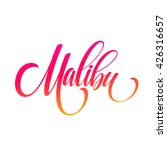 malibu california handwriting... | Shutterstock .eps vector #426316657