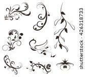 vector set of floral... | Shutterstock .eps vector #426318733