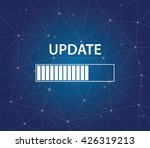 update progress bar on time... | Shutterstock .eps vector #426319213
