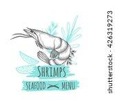 handdrawn shrimp for your... | Shutterstock .eps vector #426319273
