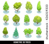 isometric 3d trees  landscape... | Shutterstock .eps vector #426319333