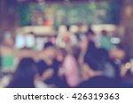 blurred coffee shop background...   Shutterstock . vector #426319363