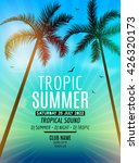 tropic summer beach party disco.... | Shutterstock .eps vector #426320173