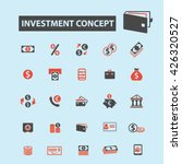 investment concept icons  | Shutterstock .eps vector #426320527