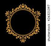elegant luxury vintage hexagon... | Shutterstock .eps vector #426321397
