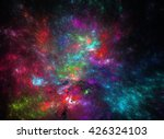 abstract shapes made of fractal ... | Shutterstock . vector #426324103