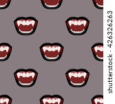 vampire mouth with black... | Shutterstock .eps vector #426326263